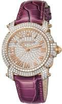Roberto Cavalli Women's Quartz Purple Leather Strap Watch.