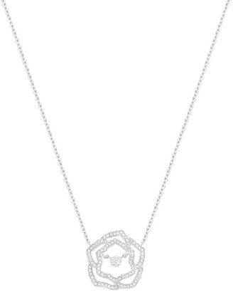 Piaget White Gold and Diamond Rose Pendant Necklace