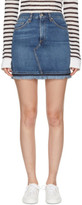 Rag & Bone Blue Denim Dive Miniskirt