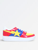 A Bathing Ape Bape Sta patent-leather trainers