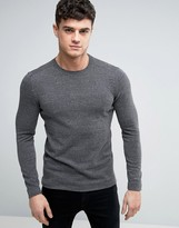 Esprit Basic Crew Neck Sweater in Gray Melange