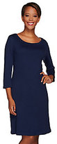 Isaac Mizrahi Live! Essentials 3/4 Sleeve Knit Dress