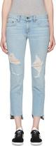 Rag & Bone Blue Dre Capri Jeans