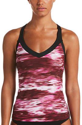 Nike Abstract Tankini Swimsuit Top
