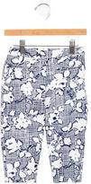 Oscar de la Renta Girls' Floral Print Pants