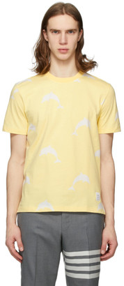 Thom Browne Yellow All Over Dolphin Icocn T-Shirt