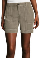Liz Claiborne Patch-Pocket Cargo Shorts - Tall