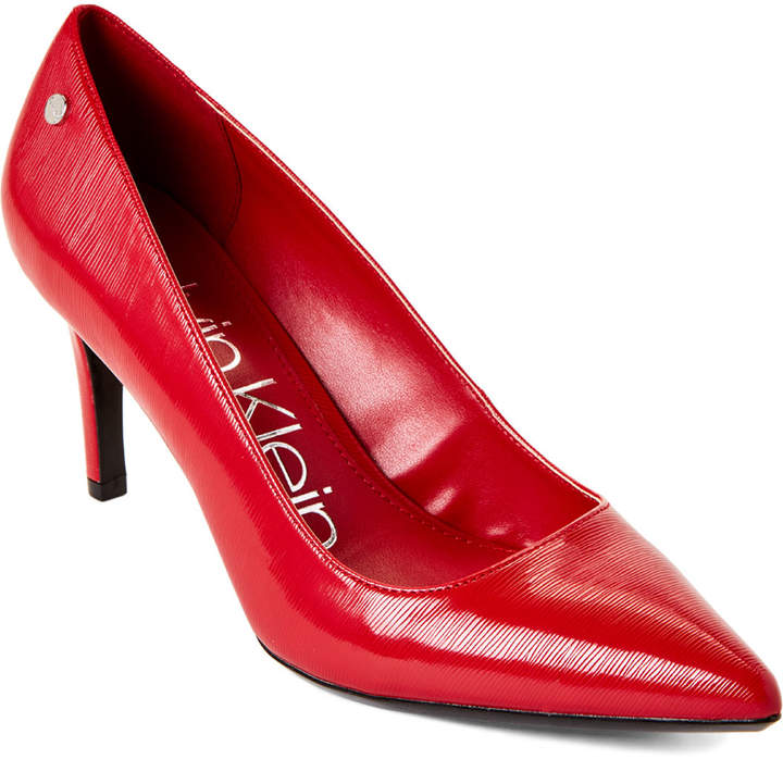 ebe0e841b135b Cherry Red Nilly Pointed Toe Pumps