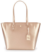 Lauren Ralph Lauren Newbury Collection Halee Metallic Tote