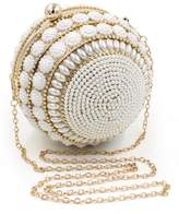 Ledyoung Women's Pearl Bead Evening Clutch Bag Purse for Party Crystal Handbag