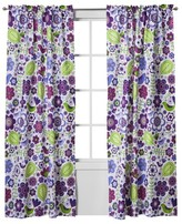 Bacati Botanical Purple Curtain Panel