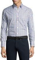 Peter Millar Crown Brady Check Cotton Shirt, Pink/Blue/White