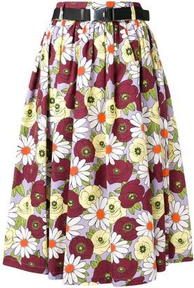 Prada full floral skirt