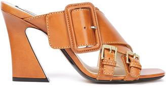 N°21 N21 Buckled Leather Mules