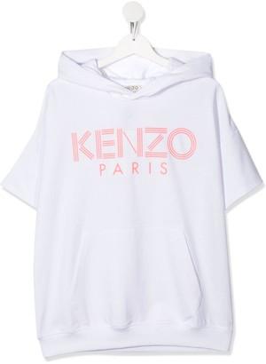 Kenzo TEEN logo-print hoodie