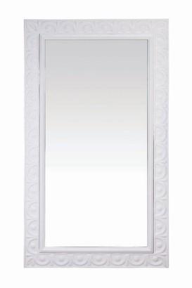Foreside Home & Garden White Rectangle Hearth Mirror