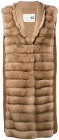 Manzoni 24 - sleeveless quilted fur jacket - women - Cashmere/Wool/Sable - 42