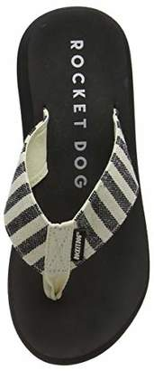 Rocket Dog Women's Spotlight Flip Flops, Black (Black Stripe), 40 EU