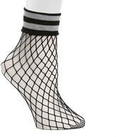 Steve Madden Fishnet Stripe Ankle Socks - Women's