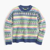 J.Crew Fair Isle crewneck sweater