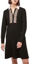 Gerard Darel Embroidered Shirt Dress, Black