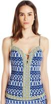 Bleu Rod Beattie Bleu | Rod Beattie Women's Road to Moroccan Plunge Push up Tankini