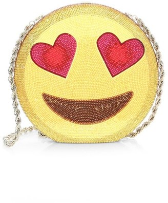Judith Leiber Couture Emoji Disc Crystal Clutch
