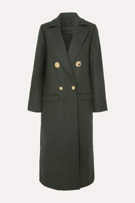 Mother of Pearl Double-breasted Wool And Cashmere-blend Coat - Dark green