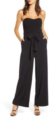 J.o.a. Strapless Wide Leg Jumpsuit