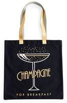 Rosanna Champagne For Breakfast Tote - Black