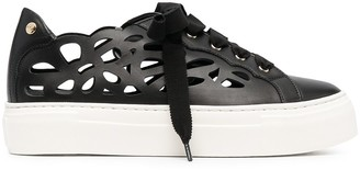 AGL Mandi laser-cut sneakers
