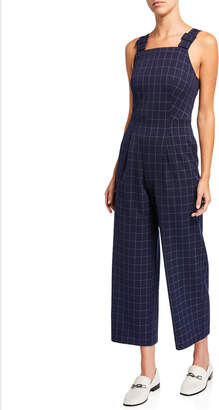 Club Monaco Self-Buckle Check Jumpsuit