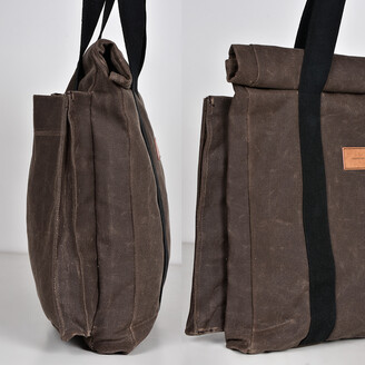 LaneFortyfive - The Basto Tote Bag - Chocolate Waxed Canvas