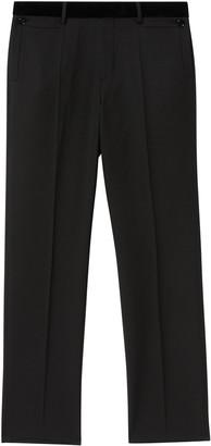 Burberry Velvet Trim Tailored Trousers