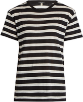 R 13 Striped cotton and cashmere-blend T-shirt