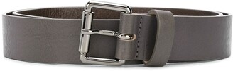 Emporio Armani Two-Tone Logo Belt