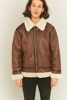 Alpha Industries B3 Fl Brown Faux Leather Jacket