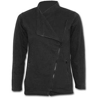 Spiral Direct Women's Metal Streetwear-Slant Zip Biker Jacket,24 (Size:XXL)
