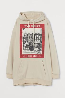H&M Long printed hoodie
