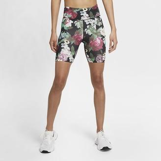 Nike Women's Floral Bike Shorts One