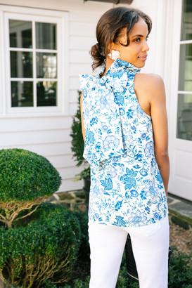 Blue Chintz Floral Mason Blouse
