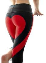 Vinjeely Women's Heart Shape Fitness Yoga Sport Pants Leggings (S, )