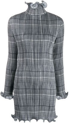 Givenchy Checked Dress In Pleated Satin