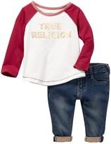 True Religion Long Sleeve Raglan & Pant Set (Baby Girls)