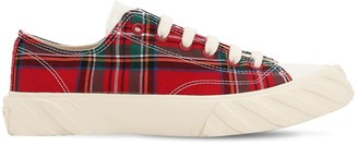 Age   Across To Genuine Era Age Cut Checked Cotton Canvas Sneakers