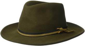 Country Gentleman Men's Outback Wool Drop Brim Fedora Hat