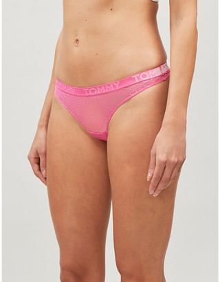 Tommy Hilfiger Velvet stretch-lace thong