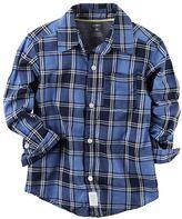 Carter's Toddler Boy Plaid Button-Down Pocket Shirt