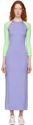 Marc Jacobs Purple and Green Redux Grunge Color Block Dress