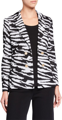 Misook Classic Animal Print Jacket